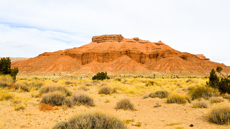 san rafael swell: A Butte in the San Rafael Swell - Utah Stock Photo