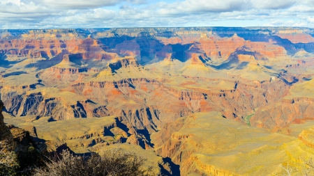 plateau point: The Grand Canyon, View From Mather Point - South Rim, Arizona Stock Photo