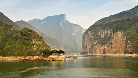 three gorges: Qutang Gorge And Yangtze River - Baidicheng, Chongqing, China