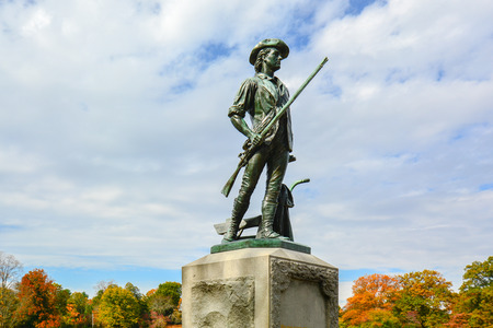 Minute Man Monument by the Old North Bridge - Concord, MA