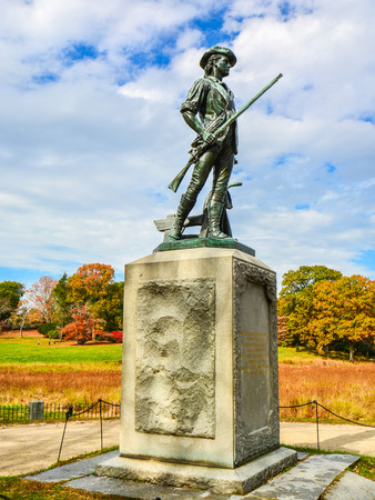 ma: Minute Man Monument by the Old North Bridge - Concord, MA