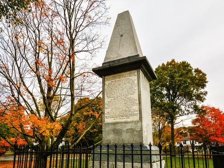 ma: Revolutionary Monument - Battle Green, Lexington, MA Editorial