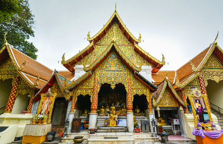 doi: Facade of Wat Phra That Doi Suthep - Chiang Mai, Thailand