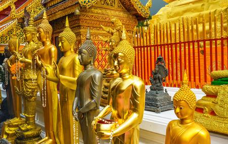 Many Buddhas in Wat Phra That Doi Suthep - Chiang Mai, Thailand