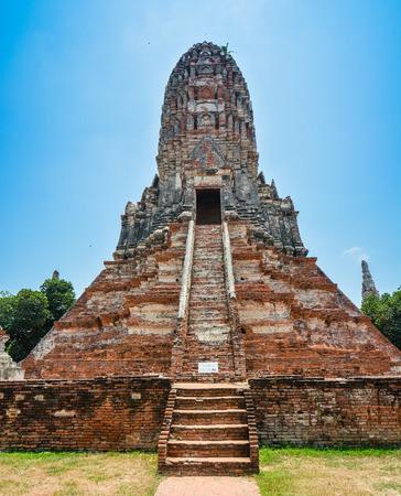 Prang in Wat Chaiwatthanaram  Ayutthaya Thailand Banco de Imagens