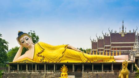 Lying Buddha at Wat Phatatsutonmongkonkiri Phrae Thailand