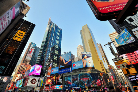 billboards: TImes Square in Late Afternoon Manhattan New York