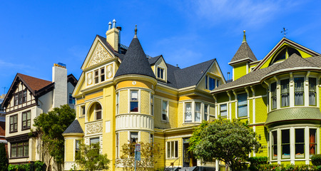 Victorian Homes Pacific Heights San Francisco Editorial