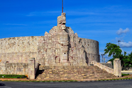 homeland: Homeland Monument, Merida, Mexico Editorial