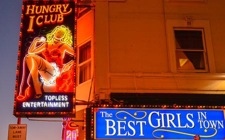 Hungry I Strip Club, North Beach, San Francisco, California Editorial