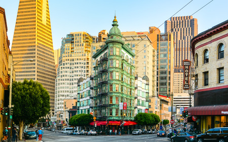 san francisco: Columbus Tower, North Beach, San Francisco, California