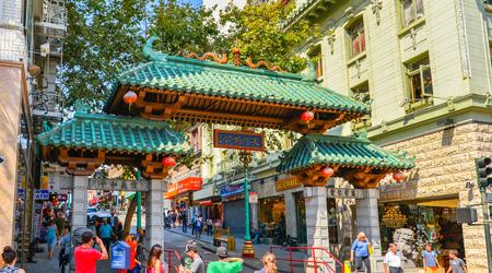 chinatown: Dragon Gate, Entrance to San Francisco Chinatown, California