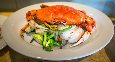 Food - Crab, Rice and Veggies Banco de Imagens