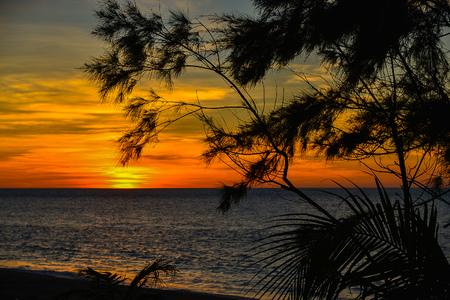 Sunset Over West Philippine Sea - View From Ilocos Region, Philippines