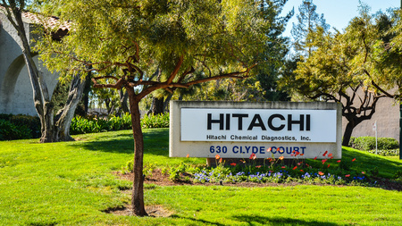Mountain View, CA, USA - Feb. 21, 2016: Hitachi Chemical Diagnostics, Inc. This company manufactures the CLA and OPTIGEN Allergy Tests, in vitro diagnostic tests and alternative to skin tests.
