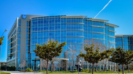 미국 캘리포니아 주 서니 베일 - 2016 년 2 월 21 일 : Hewlett Packard Enterprise HPE는 IT 환경을 더욱 효율적이고 생산적으로 안전하게 만들어 급변하는 경쟁에