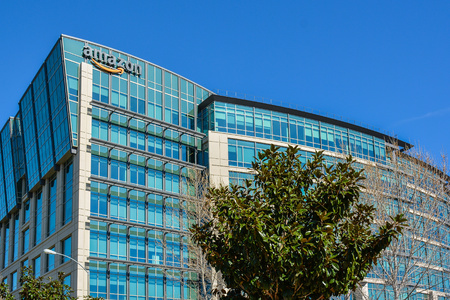amazon com: Sunnyvale, CA, USA - Feb. 21, 2016: Amazon Lab 126. Amazon Lab126 is an inventive research and development company that designs and engineers high-profile consumer electronic devices.