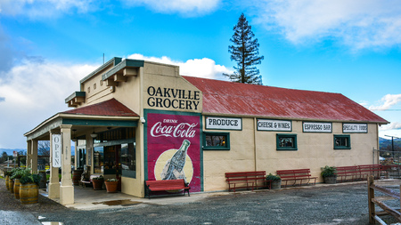 Oakville, CA, USA - Jan. 31, 2016: Oakville Grocery. Founded in 1881, Oakville Grocery is the oldest continually operating grocery store in the state of California. Editorial