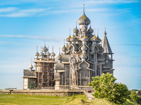 Church of the Transfiguration - Kizhi Island, Russia Stock Photo