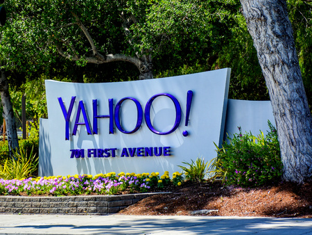 Sunnyvale, CA, USA - Apr. 23, 2016: Yahoo Inc. Headquarters. Yahoo Inc. is an American multinational technology company that is globally known for its Web portal, search engine Yahoo! Search, and related services. Editorial