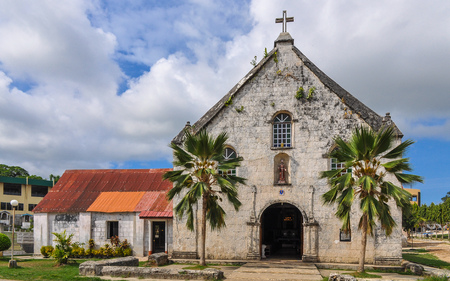 francis: Spanish Colonial Era Church, Saint Francis de Assisi - Siquijor, Philippines Stock Photo