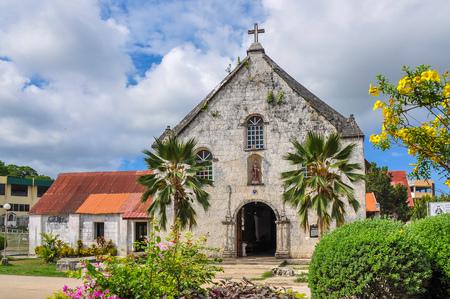 Spanish Colonial Era Church, Saint Francis de Assisi - Siquijor, Philippines Stock Photo