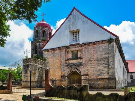 isidro: San Isidro Labrador Parish Church (Lazi Church) - Lazi, Siquijor, Philippines Stock Photo