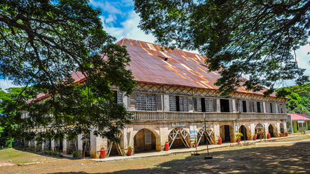 Lazi Convent, one of the largest convents built during the Spanish colonial era - Siquijor, Philippines Stock Photo