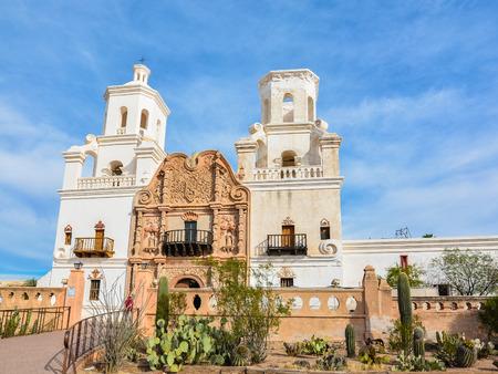 Mission San Xavier del bac - near Tucson, AZ Banco de Imagens - 70713056