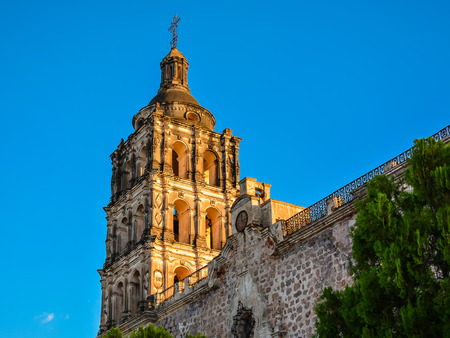 immaculate conception: Bell Tower of the Immaculate Conception Church - Alamos, Sonora, Mexico