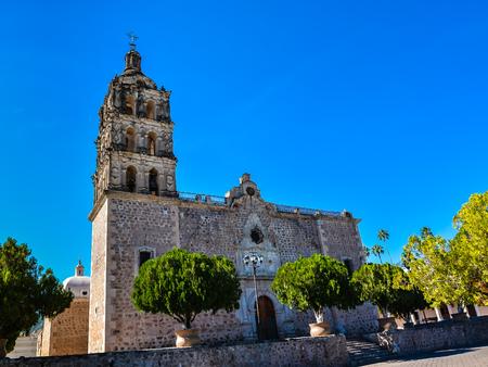 Immaculate Conception Church - Alamos, Sonora, Mexico Banco de Imagens - 68834999