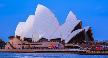 Sydney, Australia - Jan. 29, 2017: Sydney Opera House. It is one of the worlds busiest and most creative art centers that features world-leading performances and events. Editorial