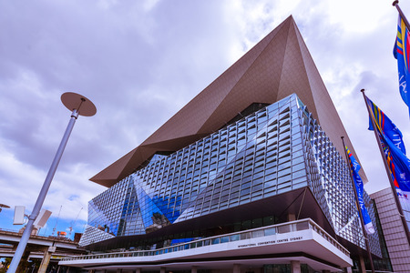 Sydney, Australia - Jan. 27, 2017: International Convention Centre Sydney - an exhibition and convention centre that opened in December 2016 in Sydney, Australia.