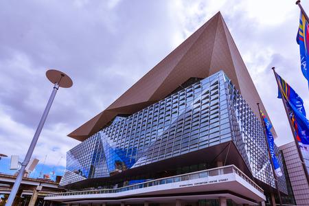 Sydney, Australia - Jan. 27, 2017: International Convention Centre Sydney - an exhibition and convention centre that opened in December 2016 in Sydney, Australia. Banco de Imagens - 76376722
