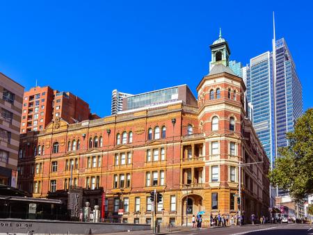 historical building: Sydney, Australia - Jan. 27, 2017: Historical Sydney Trades Hall Building. Completed in 1888, the building was built and owned by the Trades Hall Association.