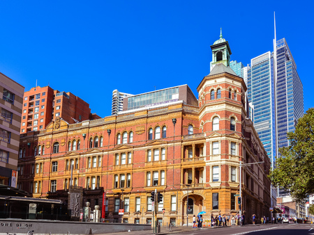 Sydney, Australia - Jan. 27, 2017: Historical Sydney Trades Hall Building. Completed in 1888, the building was built and owned by the Trades Hall Association.
