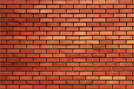 tiled wall: brick wall Stock Photo