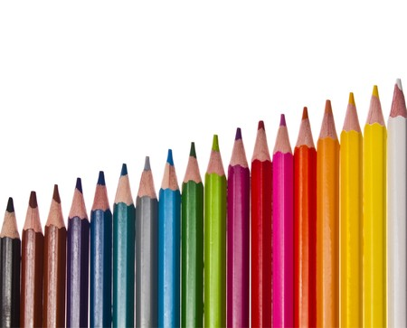 colored pencils - isolated on the white background