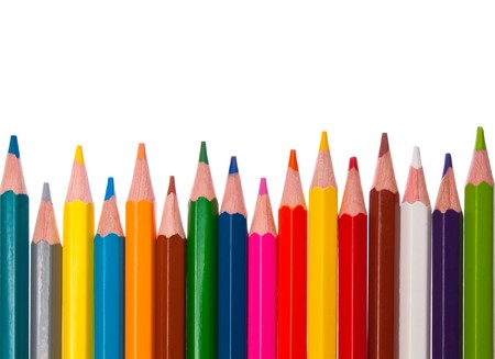 colored pencils - isolated on the white background Stock Photo - 7318998
