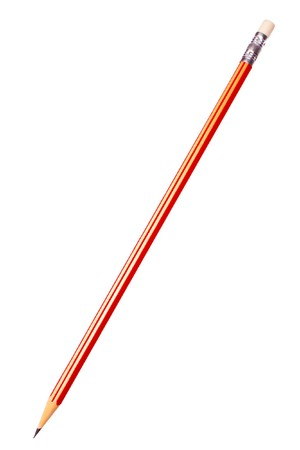 Red pencil isolated on a white Stock Photo - 7354970