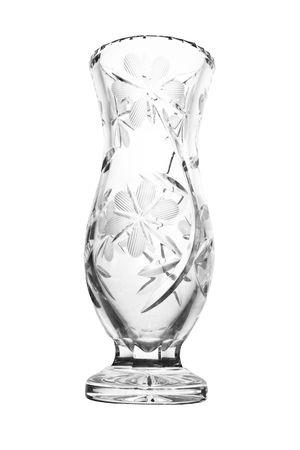 Empty crystal vase. Isolated on white background