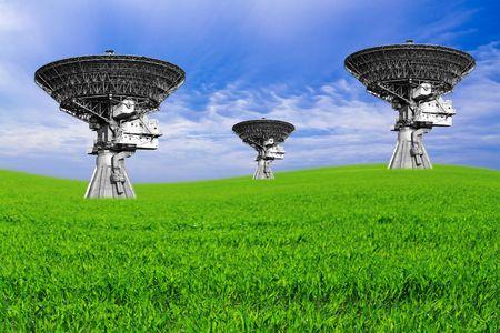 Very Large Array satellite dish antennas