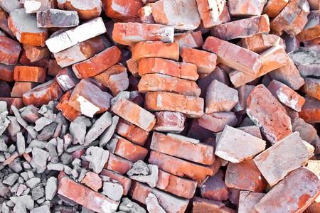 heap of red brick photo