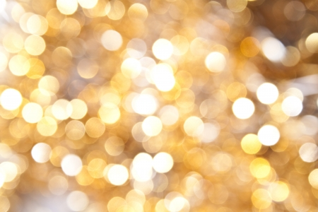 Defocused abstract yellow christmas background Stock Photo