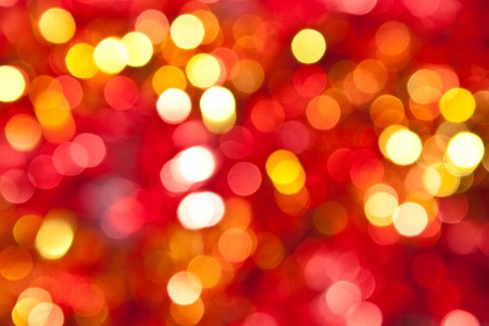 Defocused abstract red and yellow christmas background