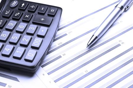 Business Diagramm finanziellen Erfolg an der Börse Standard-Bild - 9618490