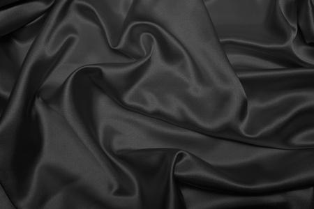 Sensuous satin noir lisse Banque d'images