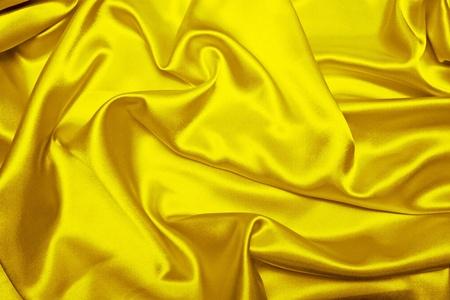 官能的な滑らかな黄色のサテン 写真素材