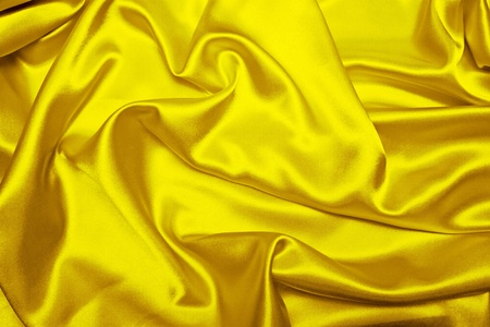 sensuous: Sensuous Smooth Yellow Satin Stock Photo