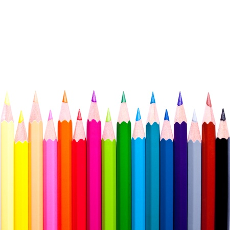 colored pencils isolated on the white background Stock Photo - 10697722